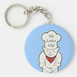 chef, TheLittlest Chef Basic Round Button Key Ring