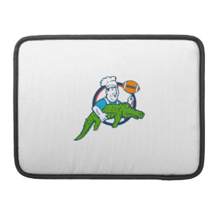 Chef Twirling Football Carry Alligator Circle Retr Sleeve For MacBook Pro