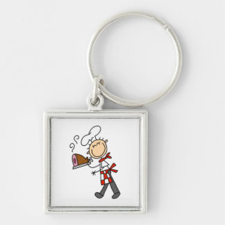 Chef With Baked Ham Key Ring