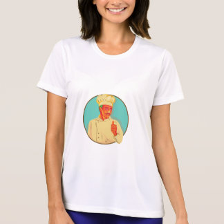Chef With Mustache Thumbs Up Circle WPA Tees