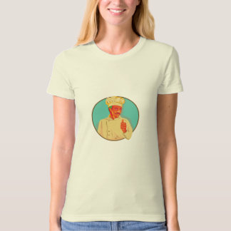 Chef With Mustache Thumbs Up Circle WPA Tshirts