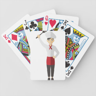 Chef with Spatula Bicycle Playing Cards