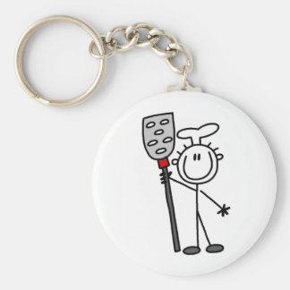 Chef With Spatula Key Ring
