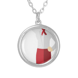 Chef with Spatula Silver Plated Necklace