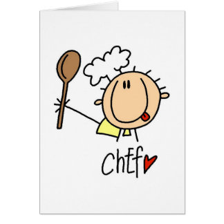Chef With  Spoon Tshirts and Gifts Card