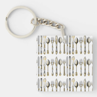 Chefs catering business cutlery key ring