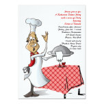 Chef's Choice Wedding Rehearsal Dinner Invitation
