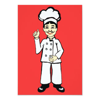 Chef's hat 13 cm x 18 cm invitation card