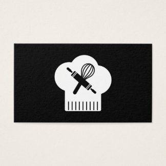 Chefs Hat Rolling Pin Whisk Business Card