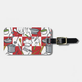 Chefs Tools Checkerboard Luggage Tag