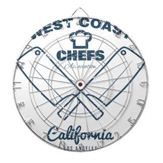 Chefs Vintage T-shirt graphics print Dartboard