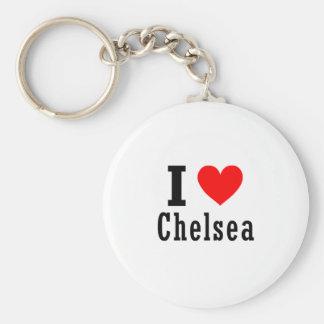 Chelsea Alabama City Design Basic Round Button Key Ring