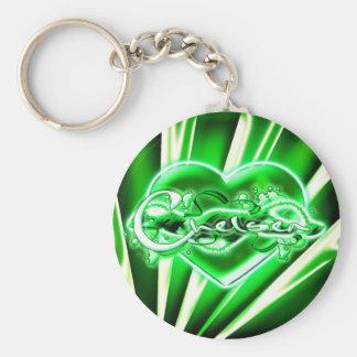 Chelsea Basic Round Button Key Ring