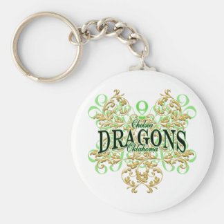 Chelsea Dragons (curl tribal) Basic Round Button Key Ring