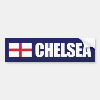Chelsea England Flag Bumper Stickers