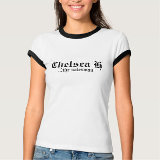 Chelsea H White-Black-Trim T-Shirt