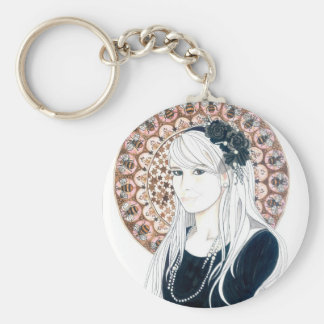 Chelsea in LA Basic Round Button Key Ring