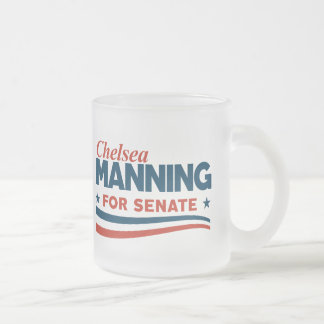 Chelsea Manning 2018 Frosted Glass Coffee Mug