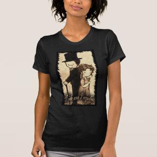 "Chelsea Moore2--- Ladies fitted black medium ""Eliz T-Shirt"