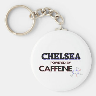 Chelsea powered by caffeine basic round button key ring