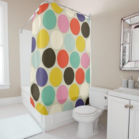 chelsea spot cream shower curtain