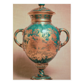 Chelsea vase and lid with gilt chinoiserie postcard