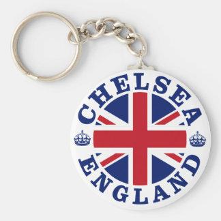 Chelsea Vintage UK Design Basic Round Button Key Ring