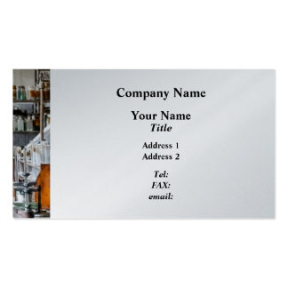 Chem Lab With Test Tubes And Retort Business Card Template