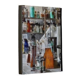 Chem Lab With Test Tubes And Retort iPad Folio Cases
