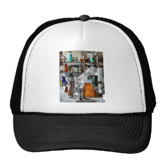 Chem Lab With Test Tubes And Retort Trucker Hat