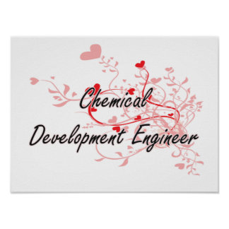 Chemical Development Engineer Artistic Job Design Poster