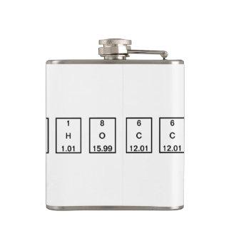 Chemical Formula: C2H6O (Ethanol) Hip Flasks
