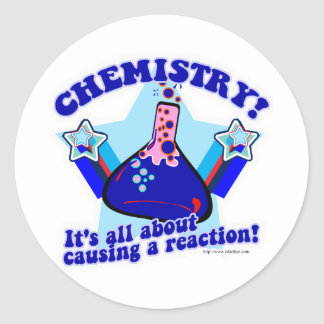 Chemical Reaction Classic Round Sticker