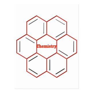 Chemical structure in chemistry postcard