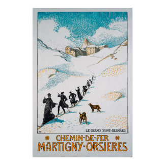 Chemin-de-Fer Martigny-Orsières,Schweiz,Railway Poster