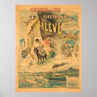 Chemins de Fer Electrique du Saleve Vintage Travel Poster
