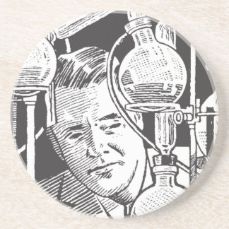 Chemist in Black and White Coaster