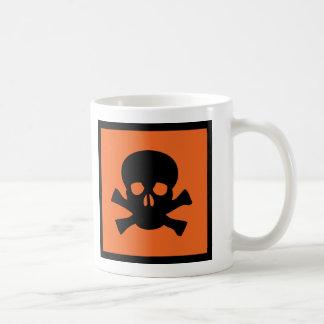 chemist skull sign coffee mug