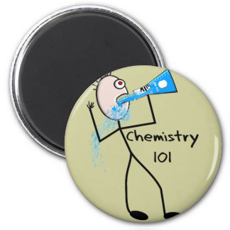 Chemistry 101  Stickman Design Funny Gifts Magnet