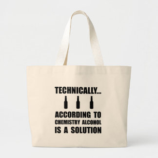 Chemistry Alcohol Solution Large Tote Bag