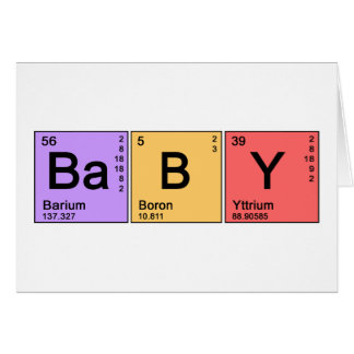 Chemistry Baby Greeting Card