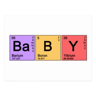 Chemistry Baby Postcard