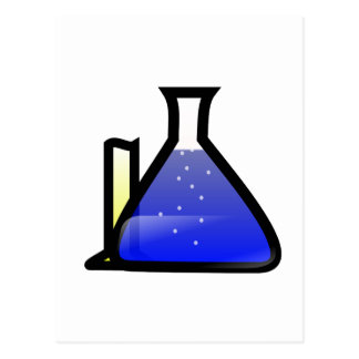 Chemistry Beakers Postcard
