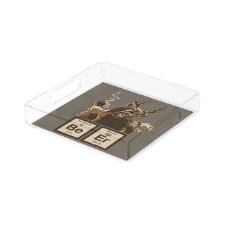 Chemistry bear discovered beer acrylic tray