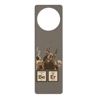 Chemistry bear discovered beer door hanger