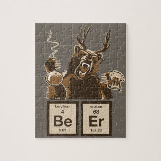 Chemistry bear discovered beer jigsaw puzzle