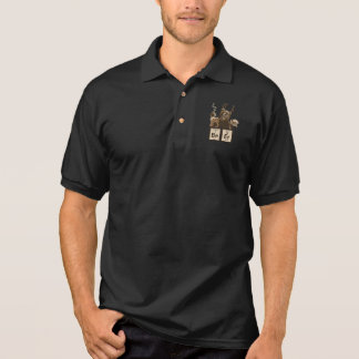 Chemistry bear discovered beer polo shirt