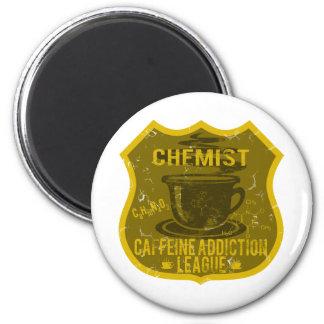 Chemistry Caffeine Addiction League Magnet
