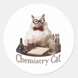 Chemistry Cat (from 9gag memes reddit) Round Sticker