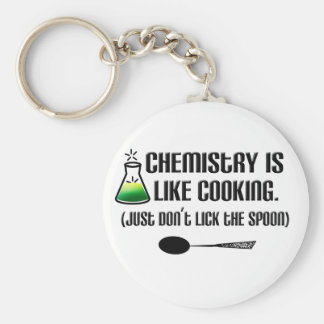 Chemistry Cooking Basic Round Button Key Ring
